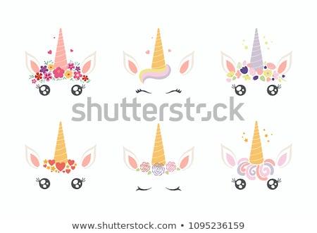 unicorn, unicorn in various background. stock photo © HunterX
