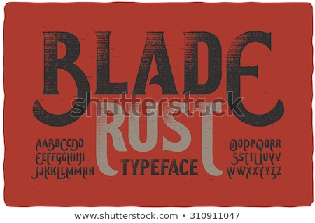 Letters of the alphabet in bloody fontstyle Stock photo © bluering