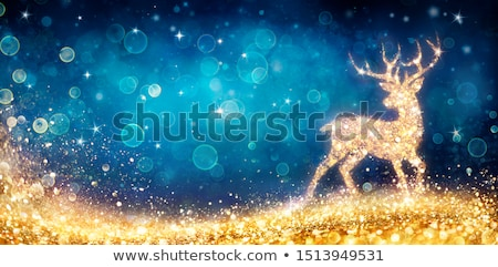 Christmas magie herten silhouet abstract Stockfoto © -Baks-