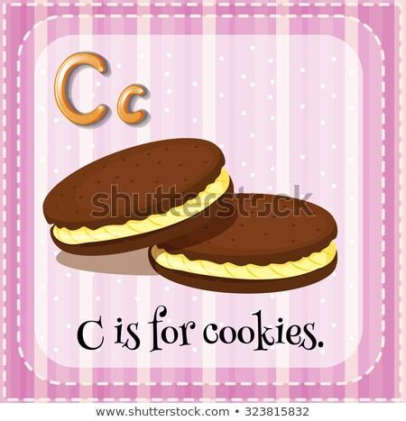 letra · c · ilustração · crianças · escolas · escrita · cartão - foto stock © bluering