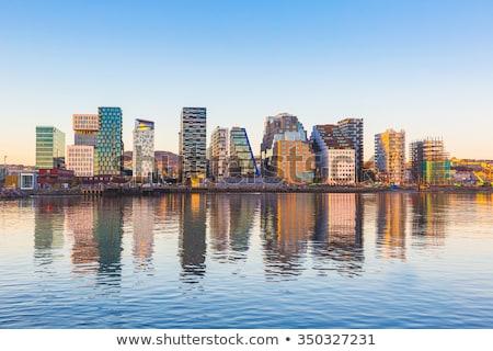 Oslo Noruega panorâmico ver moderno edifícios Foto stock © vladacanon