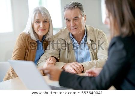 Pénzügyi beruházás útmutatás kék léggömb emel Stock fotó © Lightsource