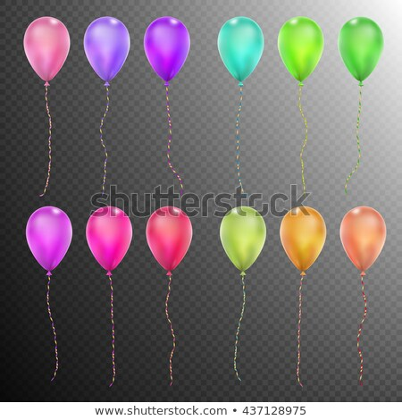 set of twelve colorful balloons eps 10 stock photo © beholdereye