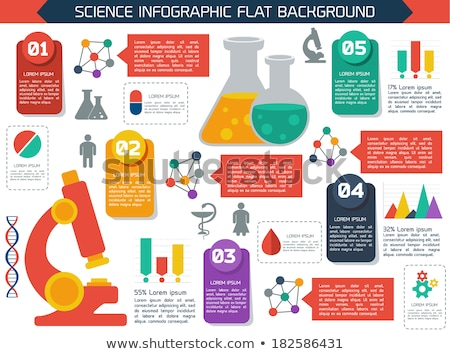 Scientific laboratory flat infographics scheme with chemistry te Stock photo © gomixer