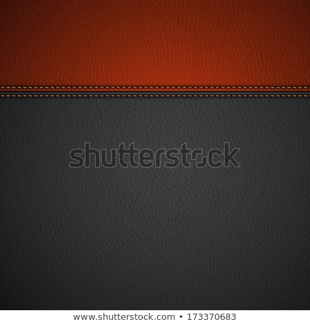 черный кожа текстуры стежка реальный Сток-фото © day908