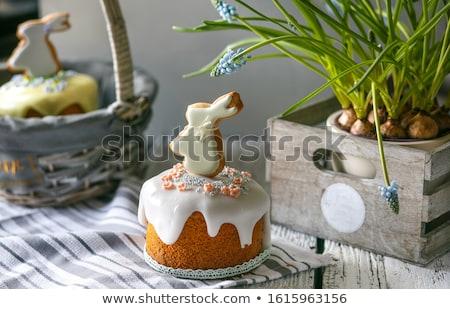 ovos · tabela · celebração · páscoa · comida · vinho - foto stock © yelenayemchuk