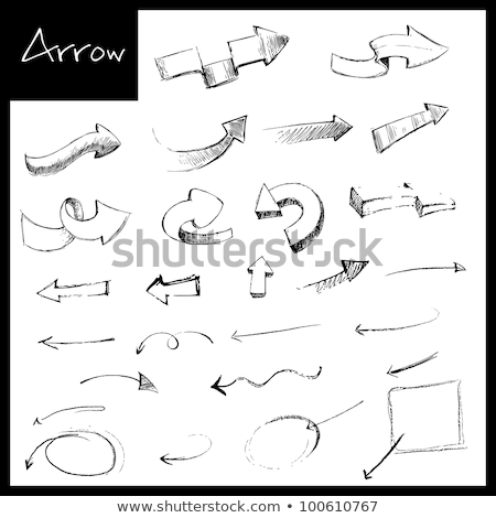 Doodles of different arrow heads Stock photo © bluering