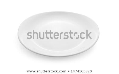 Blanche céramique plat côté propre objet Photo stock © Digifoodstock