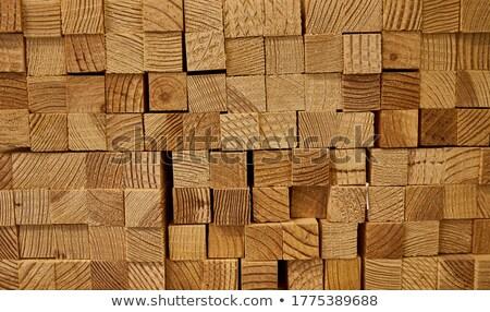 Stack of Wooden Bars. Wood Texture. Stock photo © dariazu