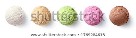 Different flavors of icecream and yogurt Stock photo © bluering