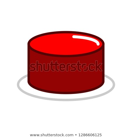 Red button isolated. Press in case of danger. Important key Stock photo © popaukropa