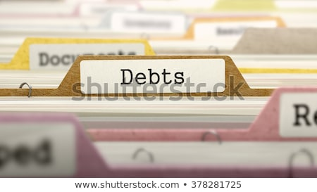 Folder Index with Debts. 3D Illustration. Stock photo © tashatuvango