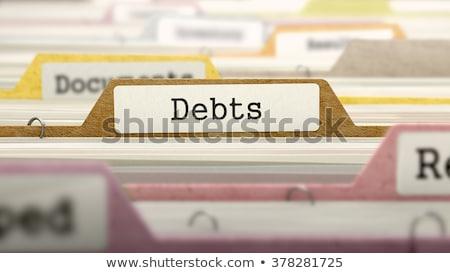 フォルダ · 借金 · 3次元の図 · 青 · カード · 現代 - ストックフォト © tashatuvango