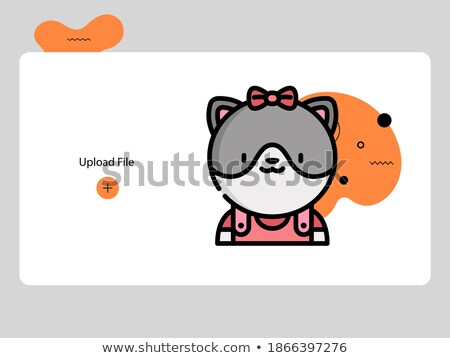 ikon · barátság · házi · háziállatok · űrlap · macska - stock fotó © studiostoks