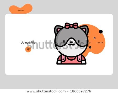 icono · amistad · nacional · forma · gato - foto stock © studiostoks