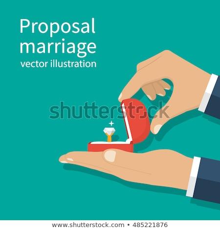 提案 結婚 ベクトル 手 着用 結婚指輪 ストックフォト © robuart