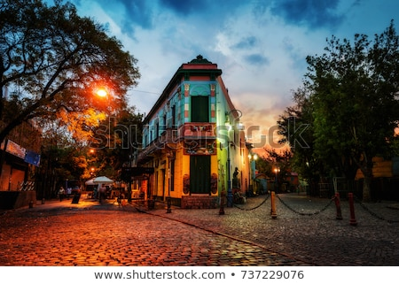 カラフル · 住宅 · ブエノスアイレス · アルゼンチン · 木材 · 通り - ストックフォト © daboost