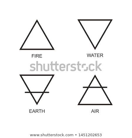 Driehoek symbool illustratie groene business Stockfoto © MONARX3D