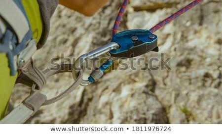 Climber belaying fellow climber Stock photo © IS2