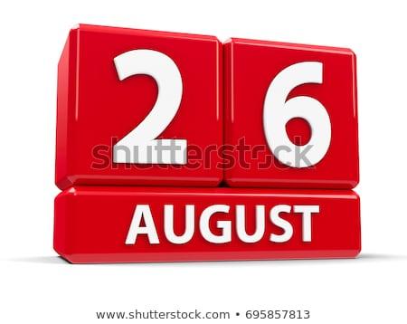 август красный двадцать белый таблице Сток-фото © Oakozhan
