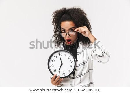 женщину · глядя · что · время · бизнеса - Сток-фото © deandrobot