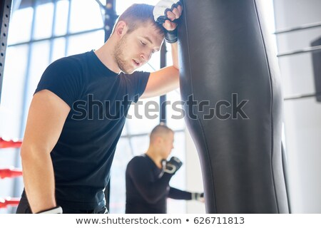 Cansado boxeador fitness estúdio Foto stock © wavebreak_media