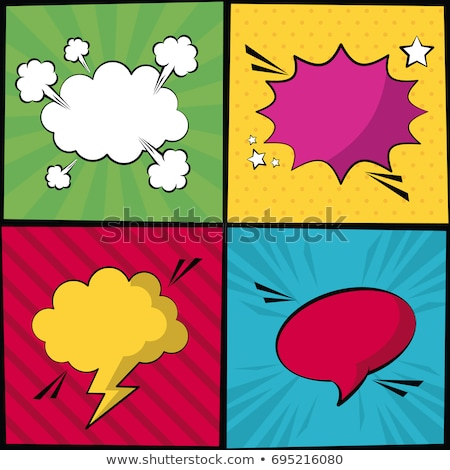 abstract colorful comic callout shapes Stock photo © pathakdesigner