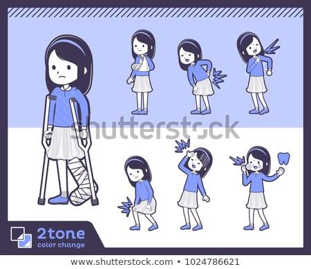 2tone type Blue clothes headband girl_set 08 Stock photo © toyotoyo