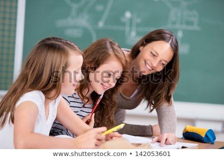 учитель рабочих столе вместе женщину Сток-фото © wavebreak_media