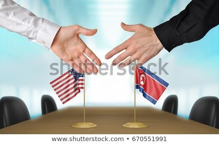 united states and north korea diplomacy stock photo © lightsource