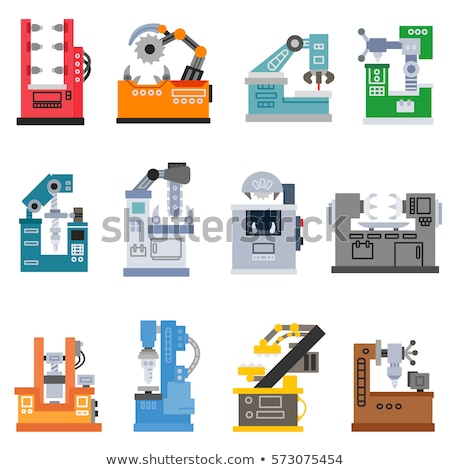 Milling cutter flat icon Stock photo © biv