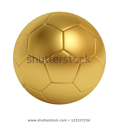 Or ballon sombre bleu sport football Photo stock © fresh_7135215