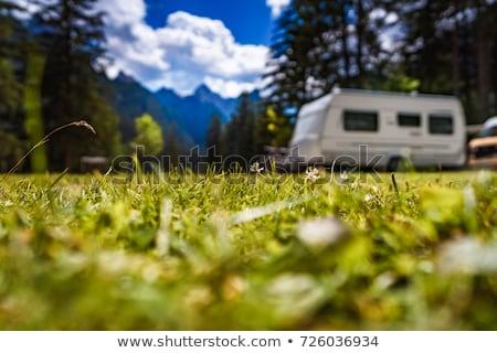 夏 キャラバン 表示 自然 背景 ストックフォト © unikpix