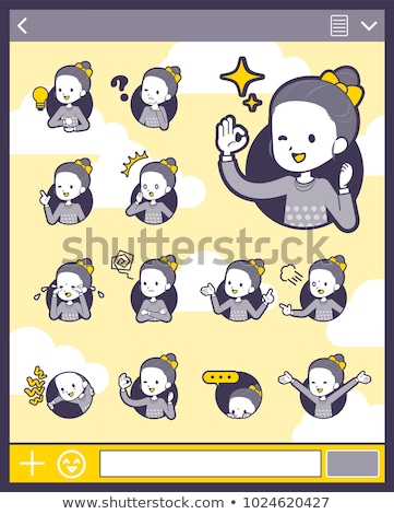 2tone type Polka dot clothes ribbon girl_set 15 Stock photo © toyotoyo