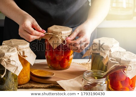 Can of pickled sauerkraut Stock photo © bluering