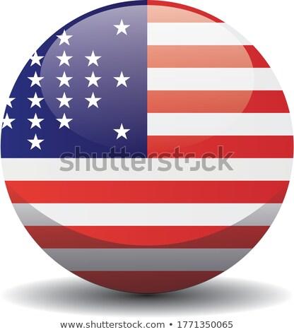 Bandera Washington círculos patrón Estados Unidos local Foto stock © MikhailMishchenko