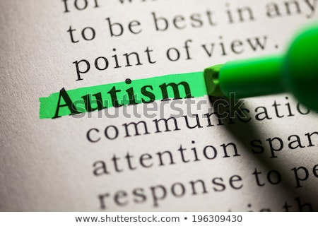 Definition of the word Autism in a dictionary Stock photo © Zerbor