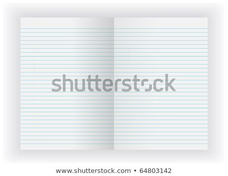 Blank open lined notebook isolated on grey Stock photo © daboost