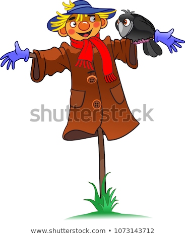 Scare crow with blue birds  Stock photo © bluering