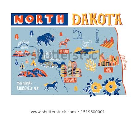 Karikatür Kuzey Dakota örnek gülen grafik Amerika Stok fotoğraf © cthoman
