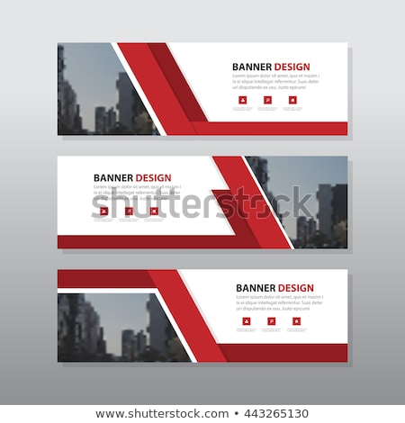 conjunto · três · negócio · banners · horizontal · templates - foto stock © SwillSkill