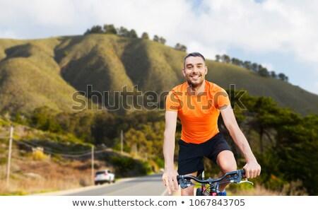 giovane · mountain · bike · ritratto · strada · felice - foto d'archivio © dolgachov
