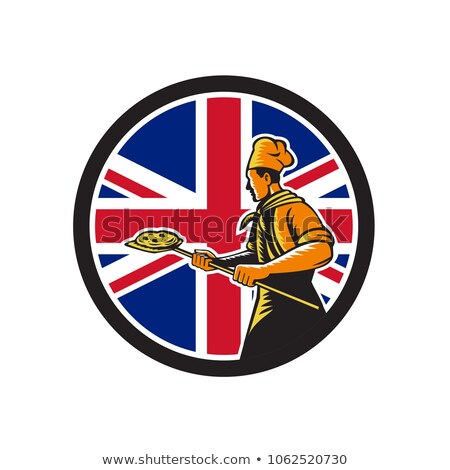 Britânico padeiro union jack bandeira ícone estilo retro Foto stock © patrimonio