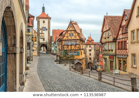 Rothenburg in Germany, timbered houses Stock photo © LianeM