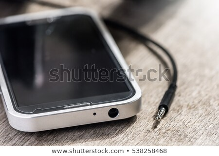 média · játékos · modern · fehér · fejhallgató · kábel - stock fotó © magraphics