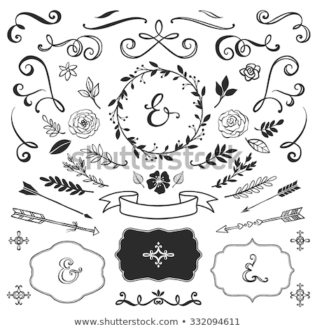 Love hand drawn illustration with hand-lettering. Hand drawn design elements. Can be used as a greet Stock photo © kollibri