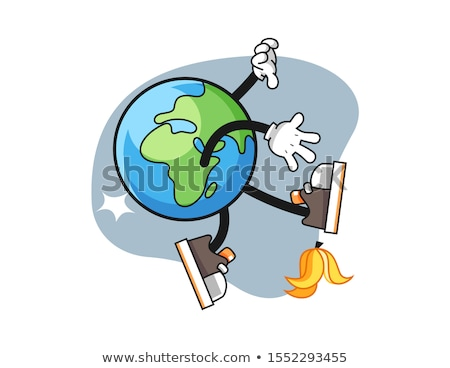globe mascot air land water travel illustration stock photo © lenm