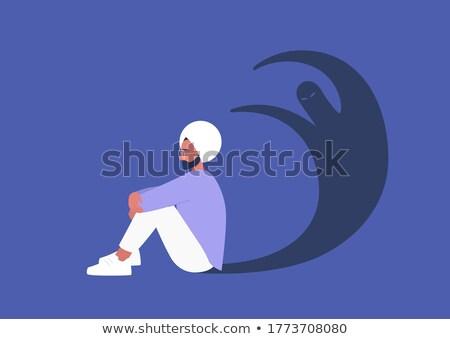 Triste desenho animado sikh ilustração olhando homens Foto stock © cthoman