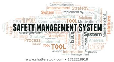 Etiket yönetim analist web sitesi araç Stok fotoğraf © RAStudio
