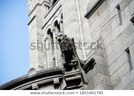 Gargoyle statue on Basilica Coeur Sacre Stock photo © vapi